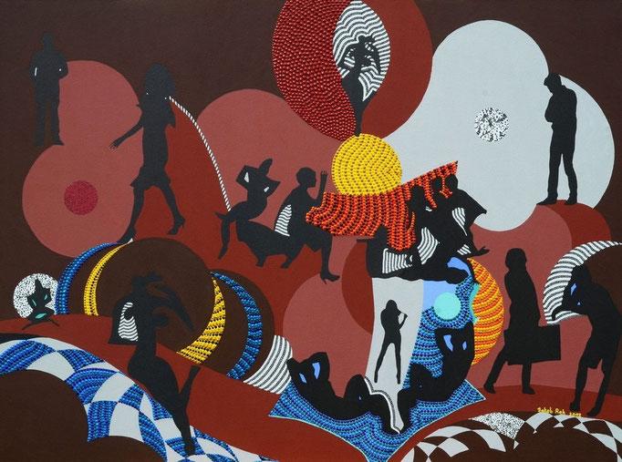 Sugared tides (2012) 95 x 70,5 cm - Acryl auf Leinwand