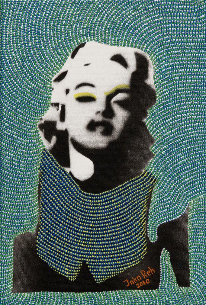 Marylin in pose (2020) - 22 x 32 cm - Acryl auf Leinwand