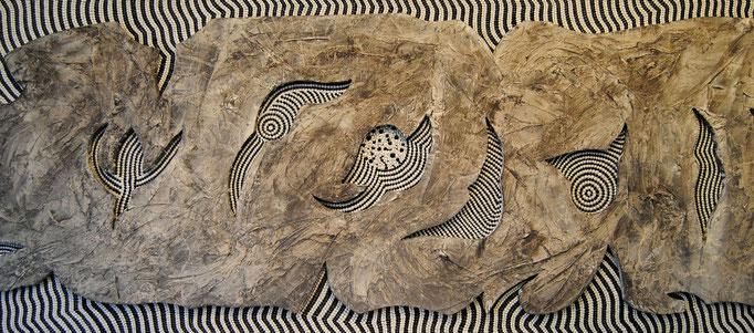 Graue Eminenz (2011) 125 x 50 cm - Acryl und Öl auf Spanplatte