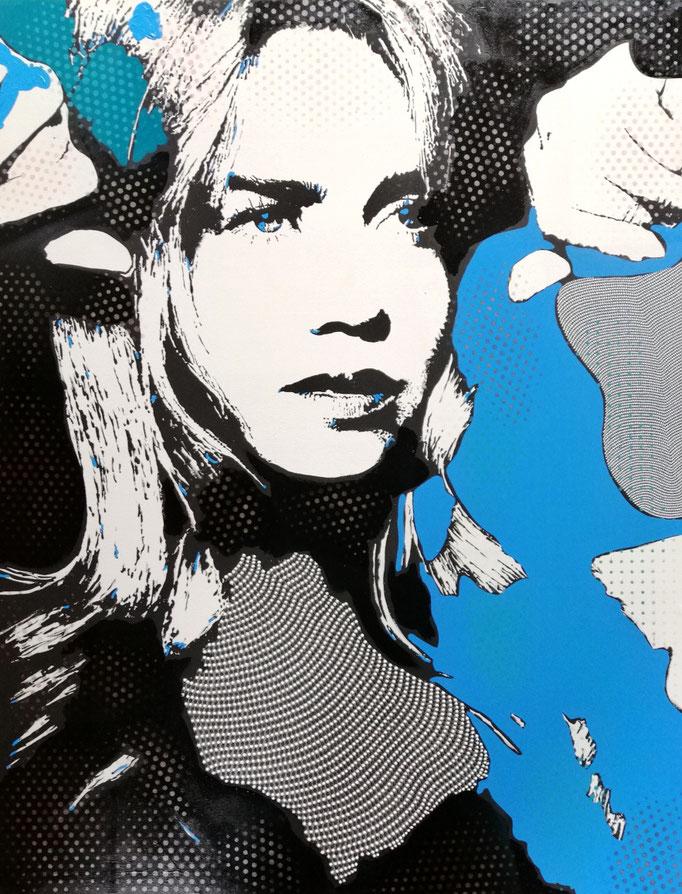 Palina Rojinski (2020) - 150 x 100 cm - Acryl auf Leinwand