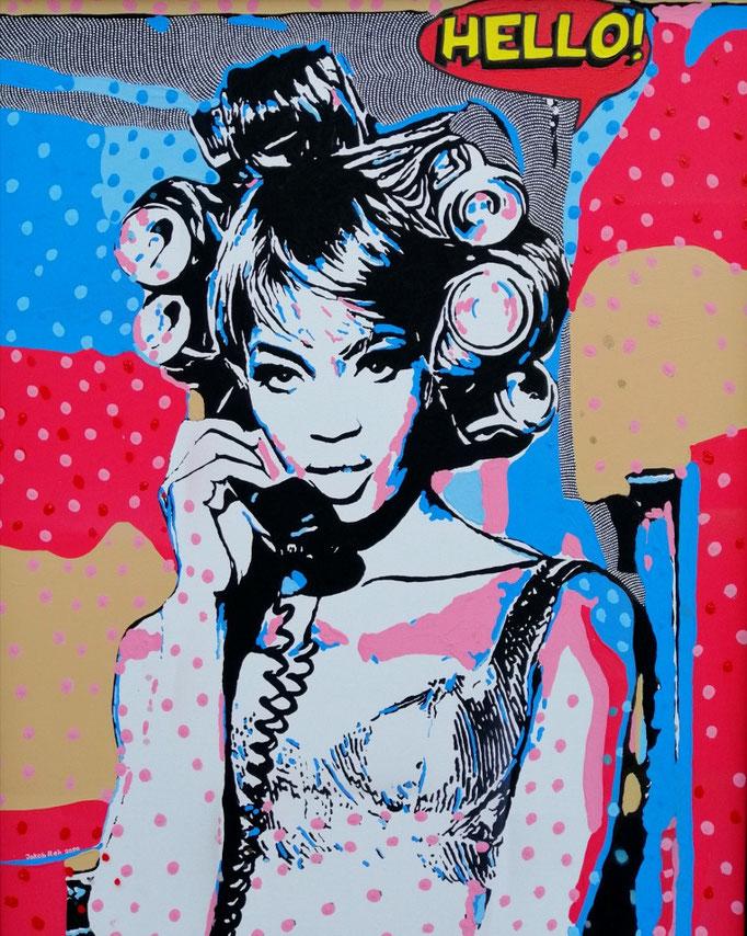 Naomi is calling (2020) - 100 x 80 cm - Acryl auf Leinwand