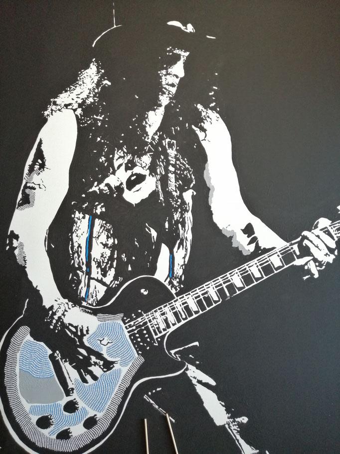 Slash! (2020) - 100 x 80 cm - Acryl auf Leinwand