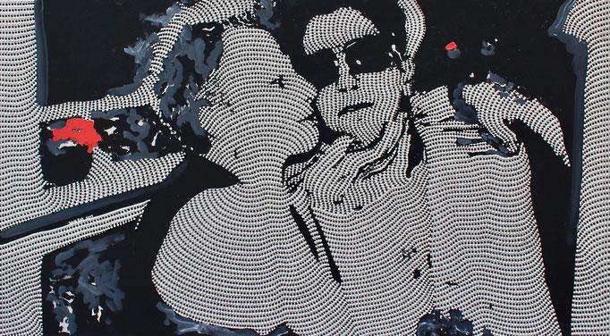 Dad, I think he´s Mr. Right (2019) - 160 x 90 cm - Acryl auf Leinwand
