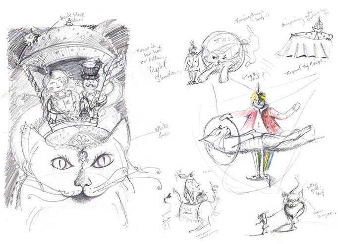 Initial drawings for Taj Mirage
