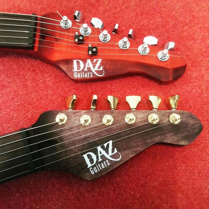Têtes de guitare Daz guitarz noire et rouge