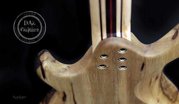 Création guitare JH-7 vue détails de dos