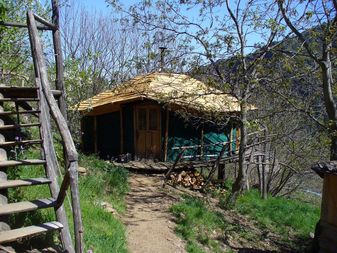 La yourte Ardèche