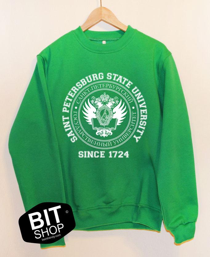 зеленый свитшот спбгу
