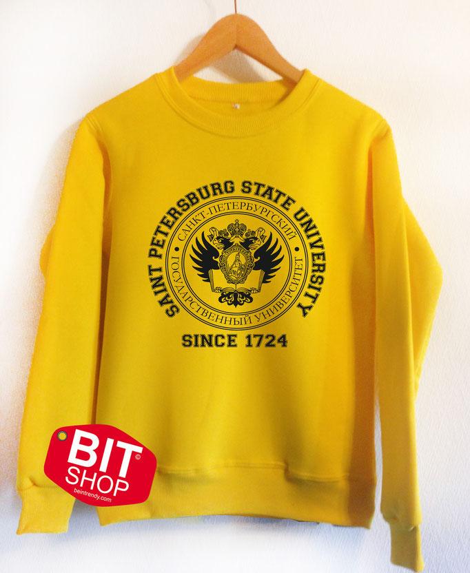 желтый свитшот спбгу