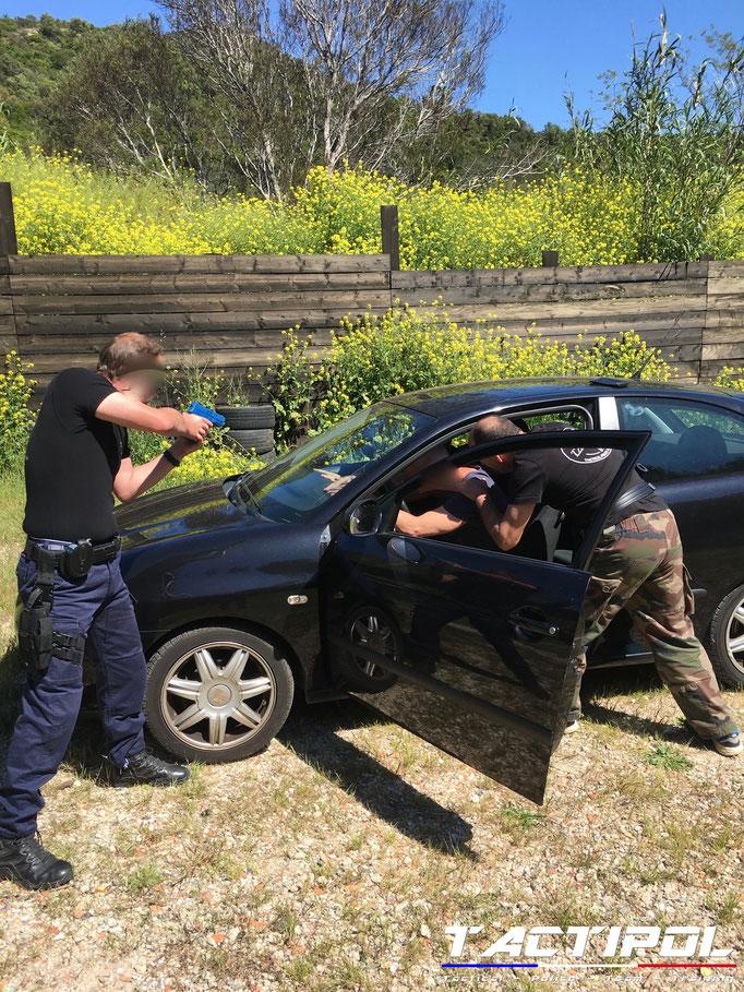 Drill technique contrôle de véhicule