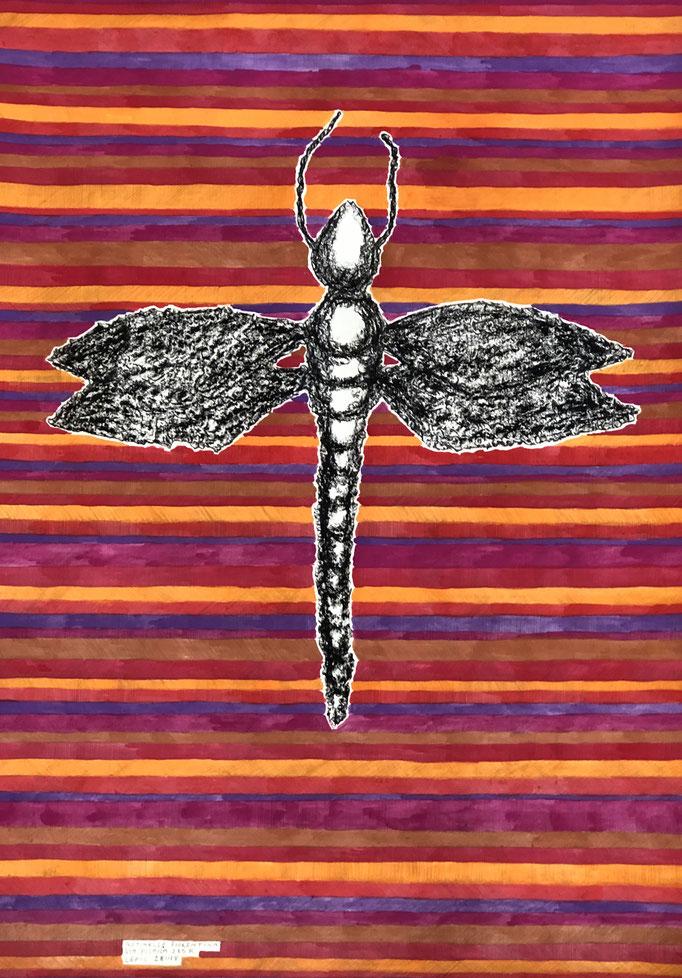 DEMOISELLE PISANA, FIRENZE         Graphit, Ölkreide und Aquarell auf Papier - 70 x 29 cm