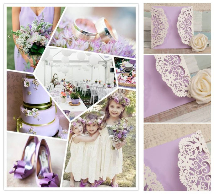 "Faire-part ""lilas"""