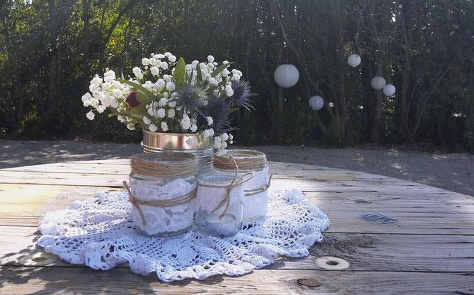 Fleurs conserves mariage