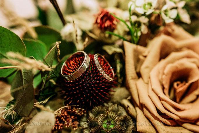 Fleurs mariage bordeaux terracotta nude