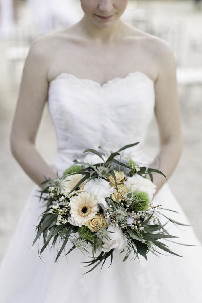 Bouquet mariée nature bohème chic