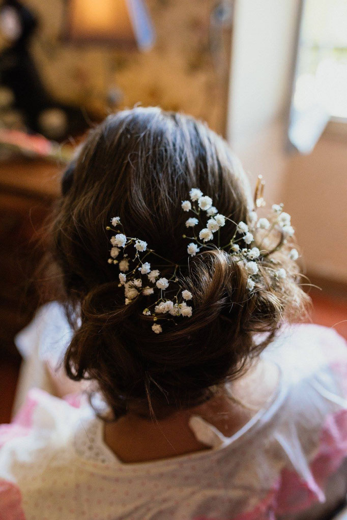 coiffure mariée gypsophile