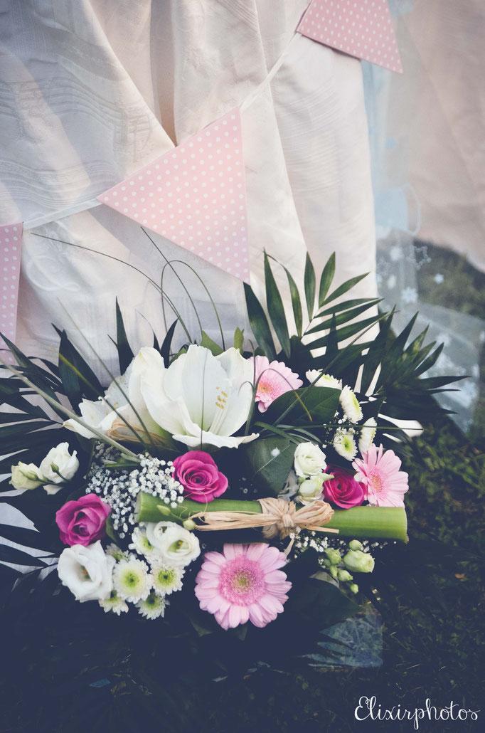 bouquet fleurs naissance bébé