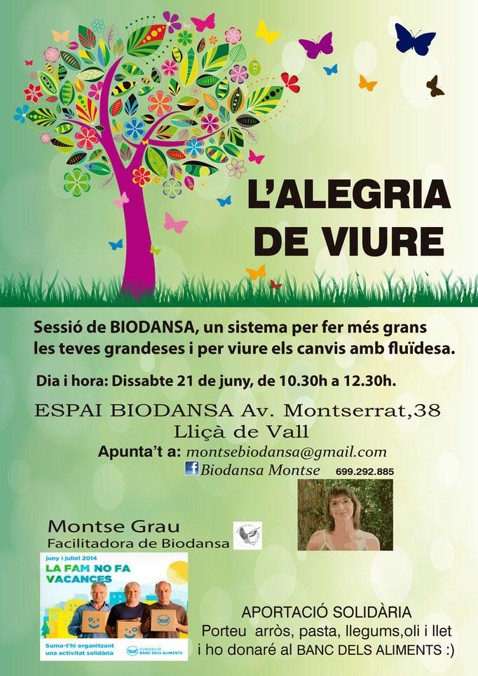 """Biodansa Montse. Taller  """"La alegría de vivir"""""""