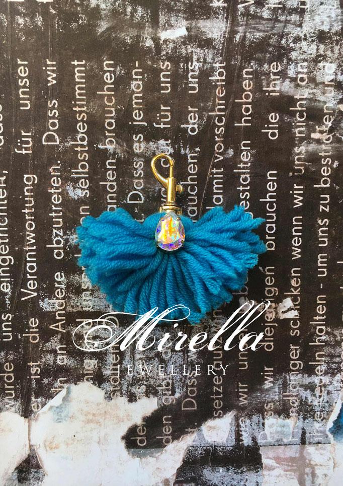 blue bag charm