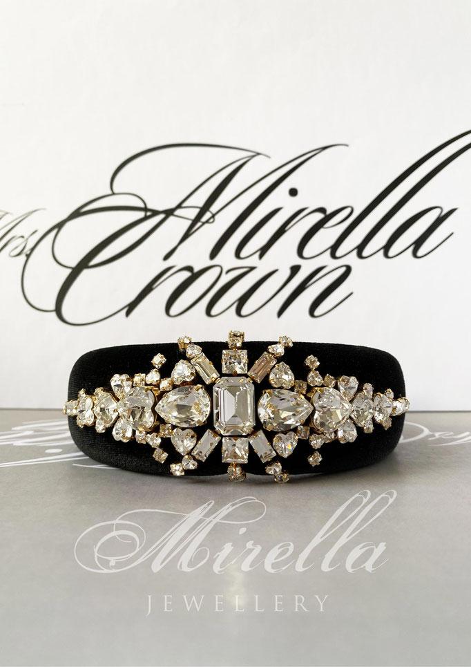 Mrs. Mirella Crown Headband with Swarovski crystals