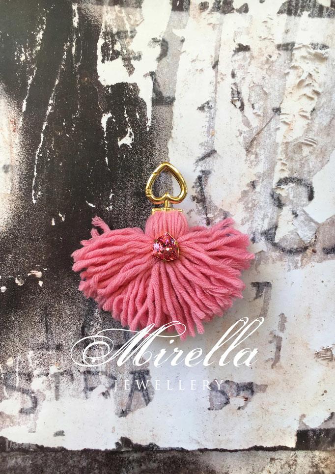 pink bag charm