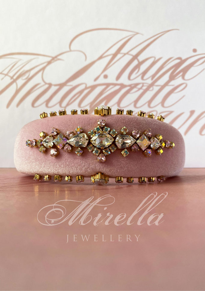 Mrs. Marie Antoinette Crown Headband with Swarovski crystals