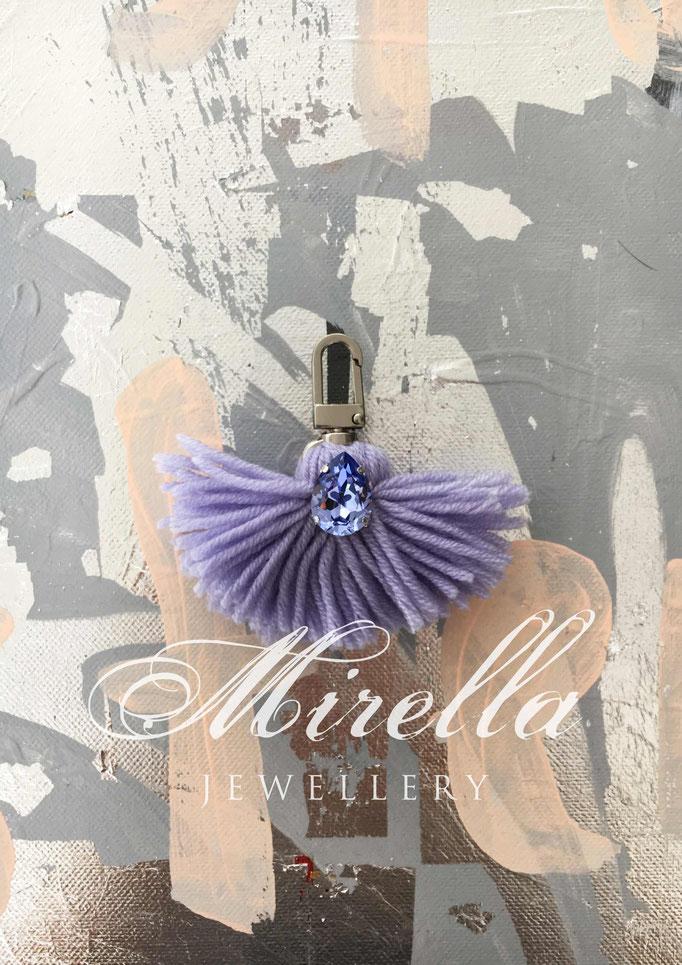 lilac bag charm