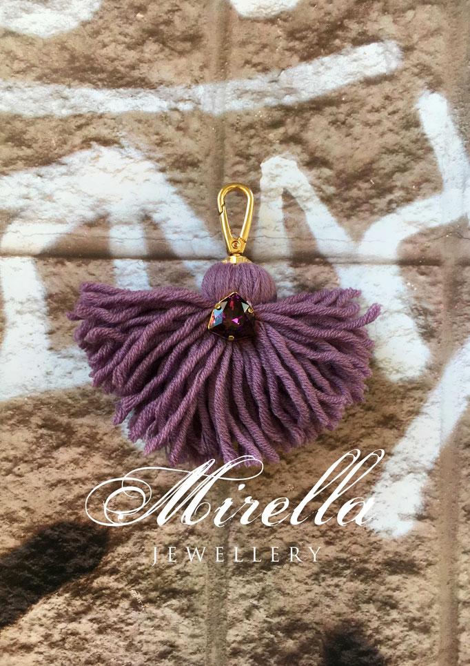 violet bag charm