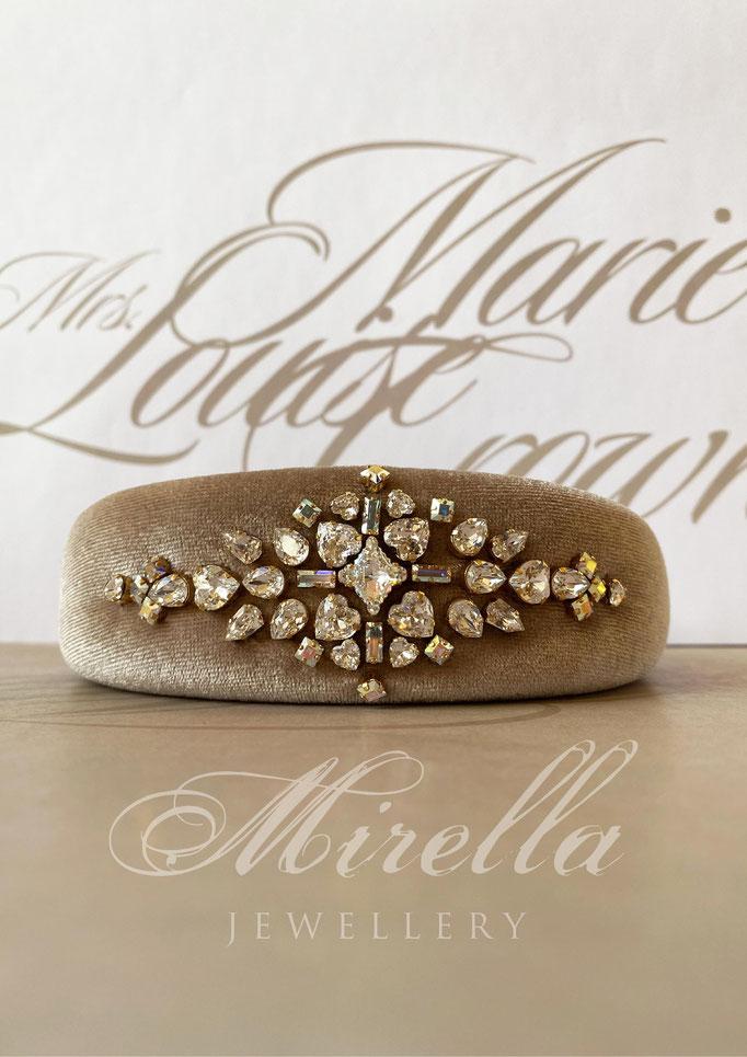 Mrs. Marie Louise Crown Headband with Swarovski crystals