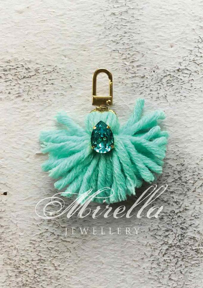 turquoise bag charm