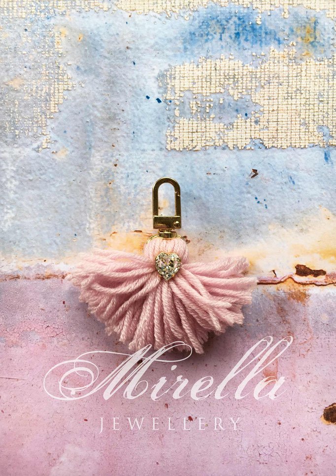 delicate pink bag charm