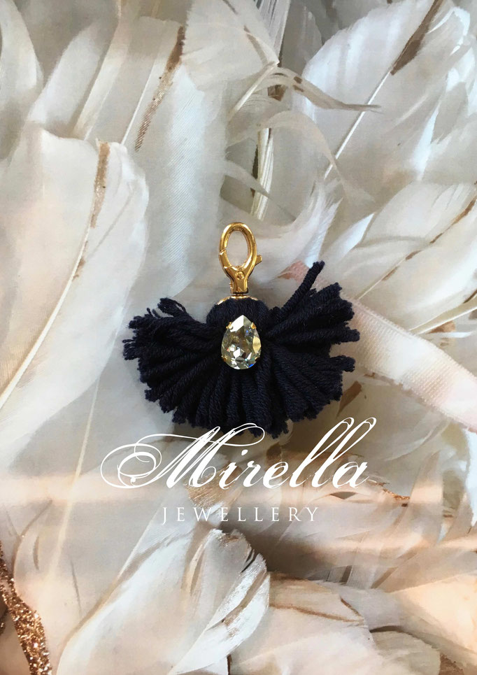 dark blue bag charm