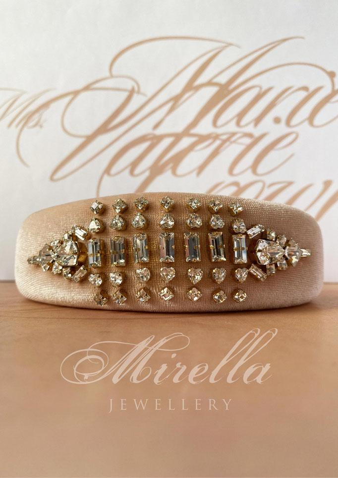 Mrs. Marie Valerie Crown Headband with Swarovski Crystals