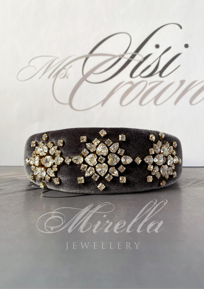 Mrs. Sisi Crown Headband with Swarovski crystals
