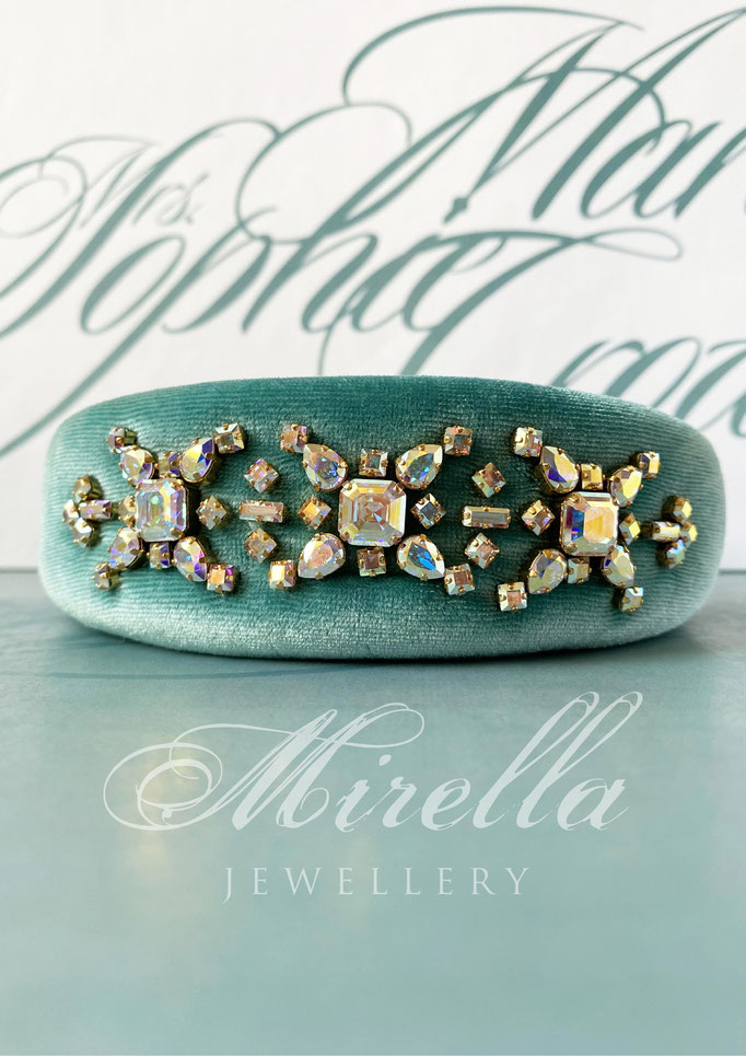 Mrs. Marie Sophie Crown Headband with Swarovski crystals