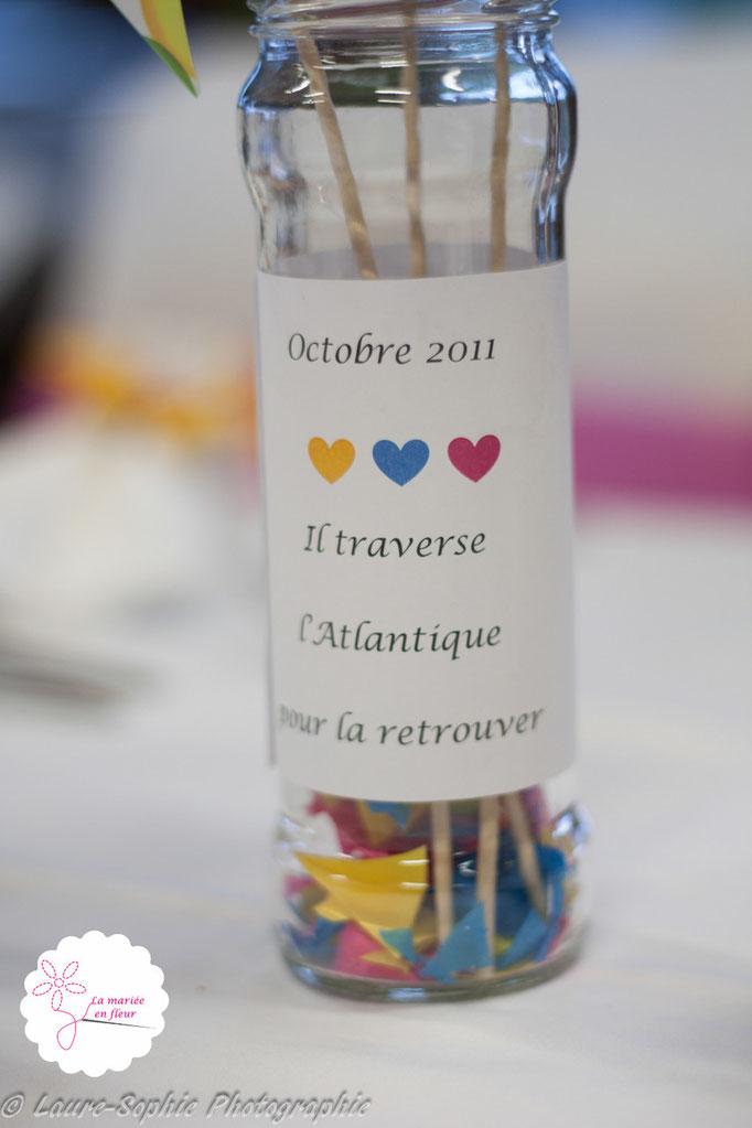 Récup de bocaux pour la réalisation des centres de table de notre mariage DIY moulins à vent