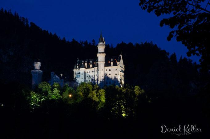 Schloss Neuschwanstein bei Nacht / Daniel Keller Fotografie