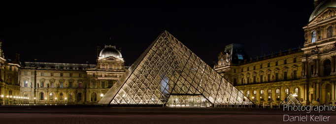 Louvre Paris bei Nacht/ Daniel Keller Fotografie