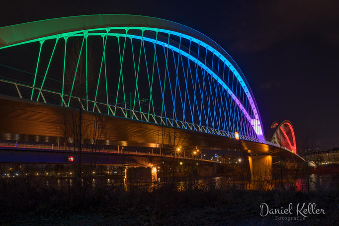 Europabrücke Kehl bei Nacht