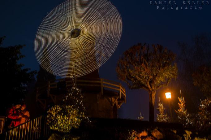 Windmühle bei Nacht / Daniel Keller Fotografie