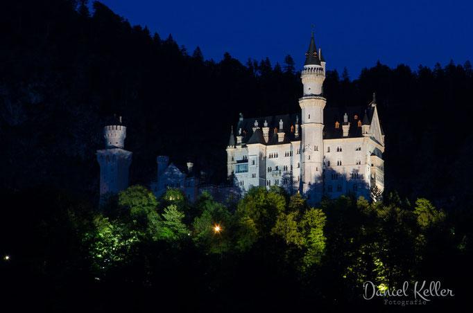 Schloss Neuschwanstein bei Nacht
