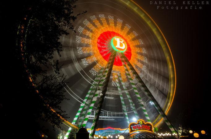 Riesenrad bei Nacht / Daniel Keller Fotografie