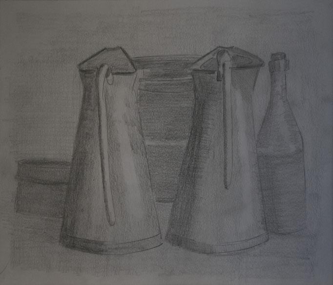 Omaggio a Morandi (24 cm x 33 cm)