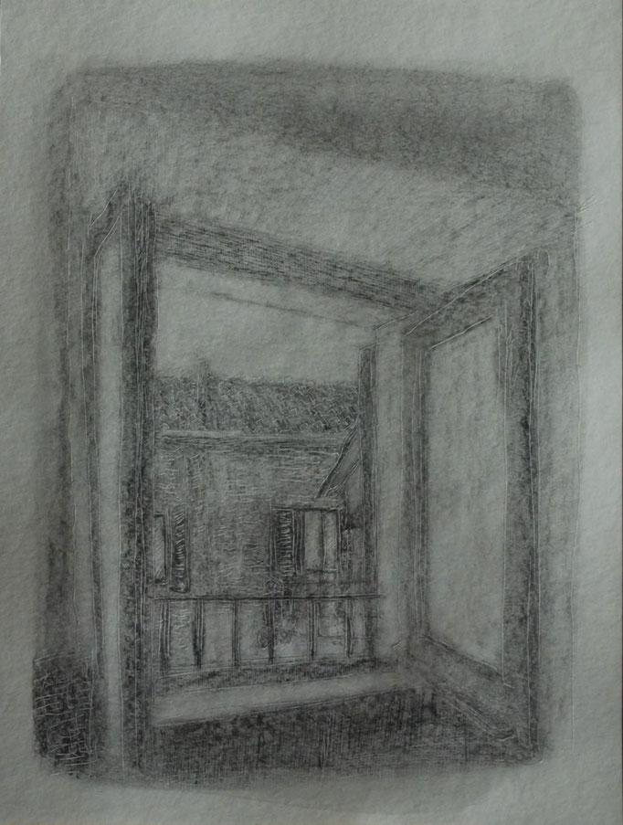 Senza titolo. Matita su foglio inciso (30,5 cm x 23 cm)
