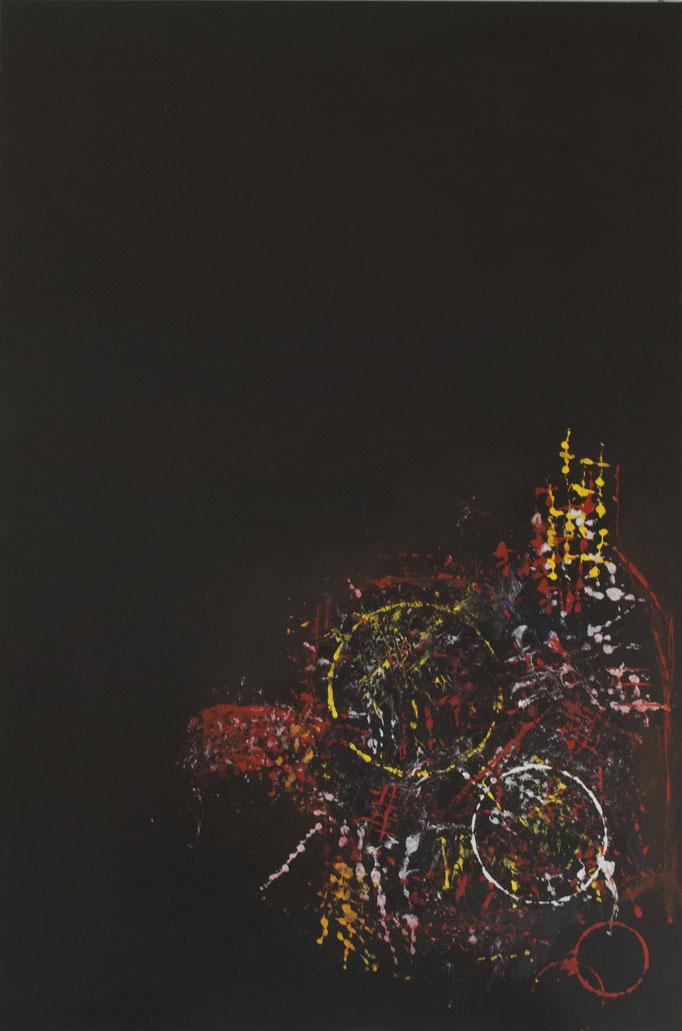 Senza titolo. Acrilico e pasta acrilica su tela (119,5 cm x 79,5 cm)