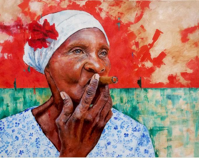 La cubana - 80 X 100 cm - Huile sur toile