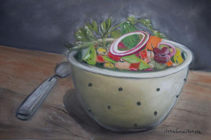 Frisch und lecker, Pastell, 20*30 cm