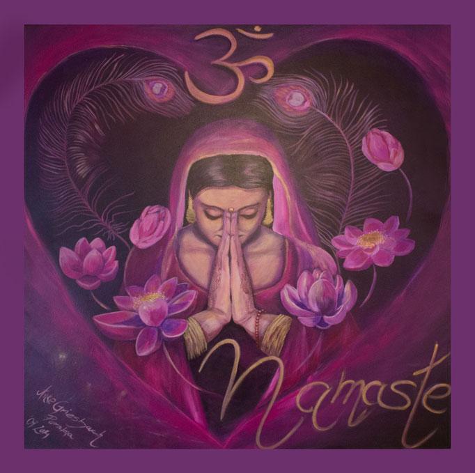 Namaste, 2014, Acryl auf Leinwand, 100*100 cm