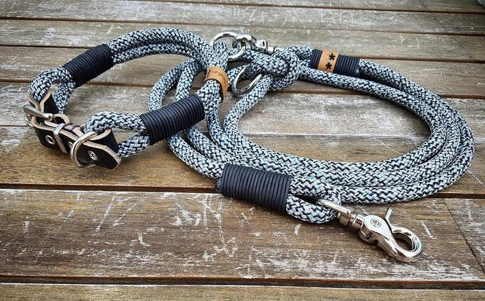 Premium Blackstone, Lederschnalle, Ledertakelung Schwarz vintage