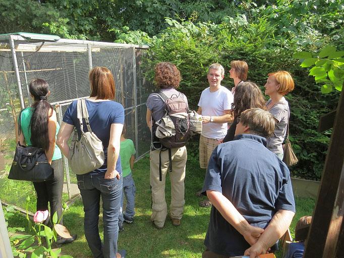Am Mauerseglertag konnten Vogelfreunde die Wildvogelhilfe des NABU Leipzig besichtigen. In der Pflegestation werden in Not geratene Singvögel und Mauersegler betreut.</p>Foto: Beate Kahl